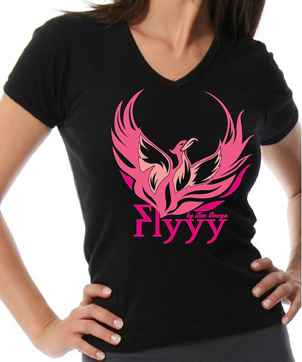 Womens Flyyy by iRoc Omega v-neck t-shirt