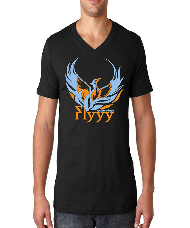Mens Flyyy by iRoc Omega v-neck t-shirt