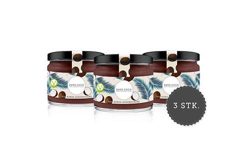 3er Set Bio-Kokos-Schokocreme 280 ml