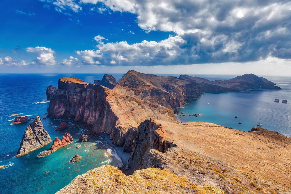 Wandern auf. Madeira, Portugal
