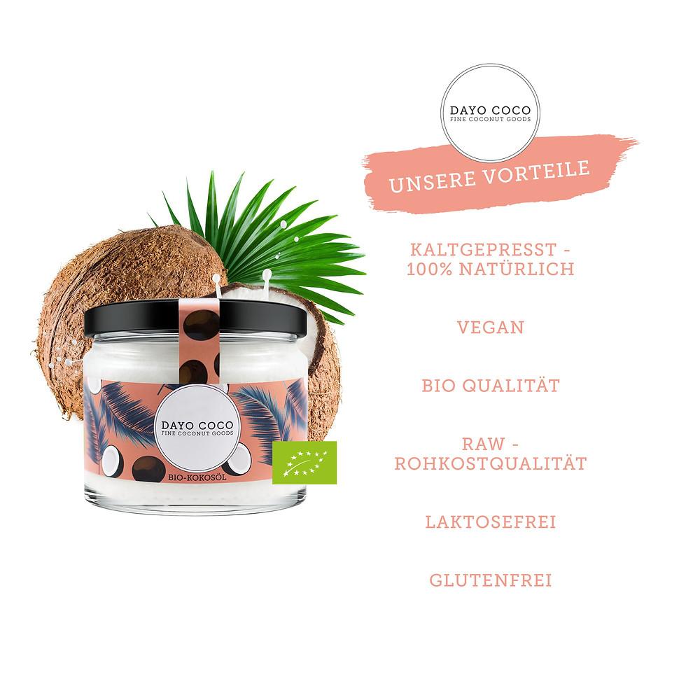 Bio Kokosöl perfekt zum Backen