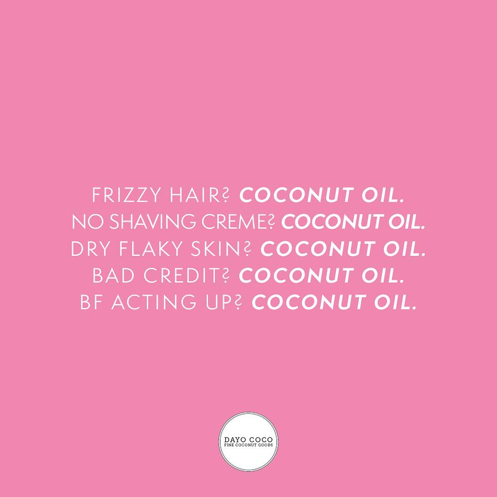 Beauty-Wunder DAYO COCO Kokosöl