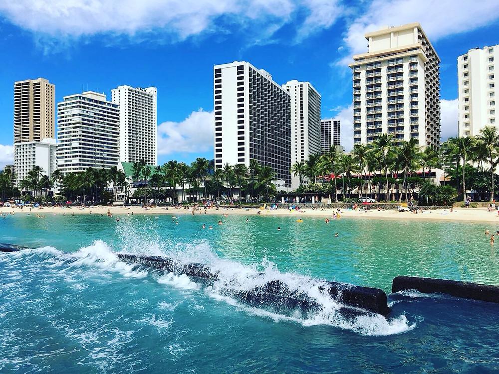 Urlaub am Waikiki Beach auf Oahu Hawaii