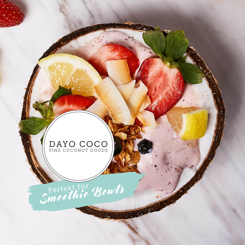 Kokoschips für Smoothie Bowls