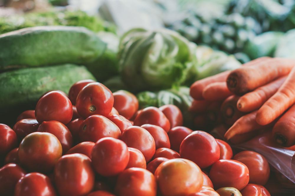 Rohkost, Obst und Gemüse