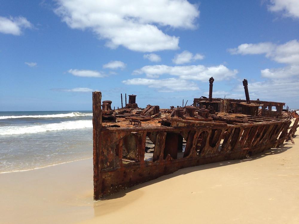 Das SS Maheno Schiffswrack auf Fraser Island