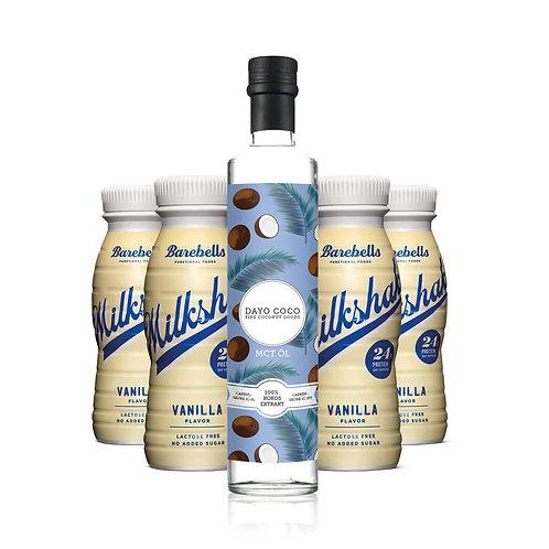 Premium MCT Öl 500ml + 4x BAREBELLS Protein Milkshake