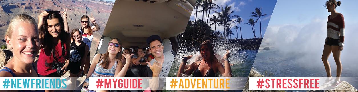 New friends, adventure, travel, stressfree
