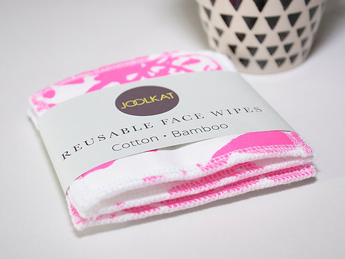Reusable Face Wipes - Set of 3 Seaweed Design