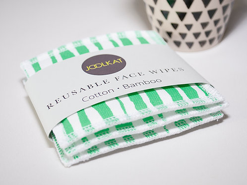 Reusable Face Wipes - Set of 3 Ripple Design