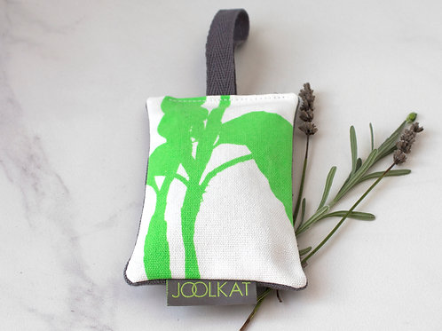 Hand Screen-printed Lavender Bags in Hoya Design