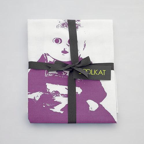 Souvenir Doll Febe Design Tea Towel. Colour Variations.