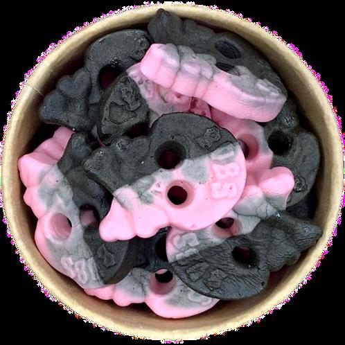 Raspberry & Liqourice Skull Bubs