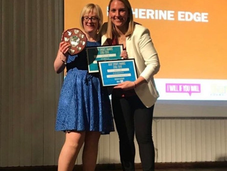 Katherine Edge wins 'Changing Lifestyle Recognition Award'