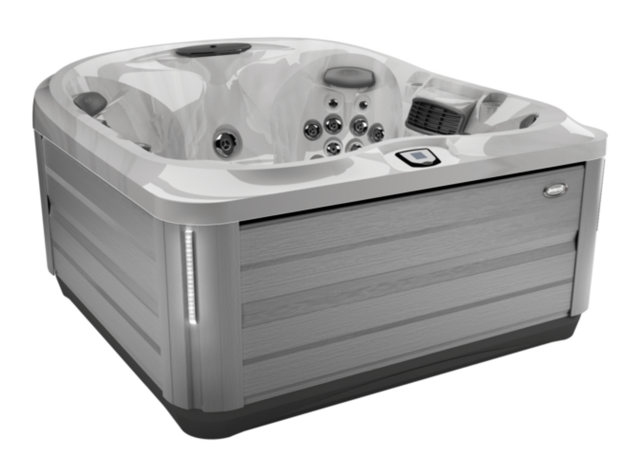 J445 - Platinum & Brushed Grey