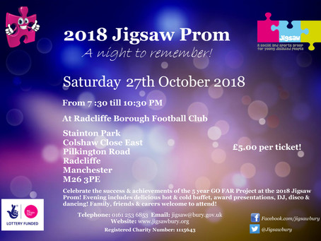 Come to the Jigsaw Prom 2018!