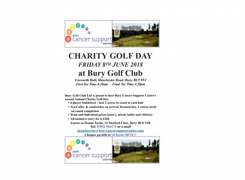 Charity Golf Day 8th June 2018