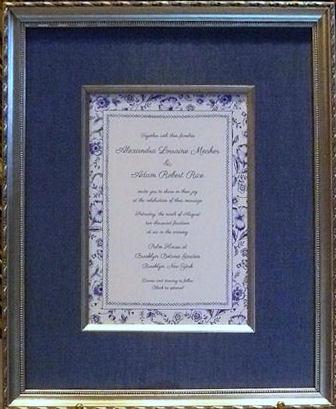invitation w/silver fillet