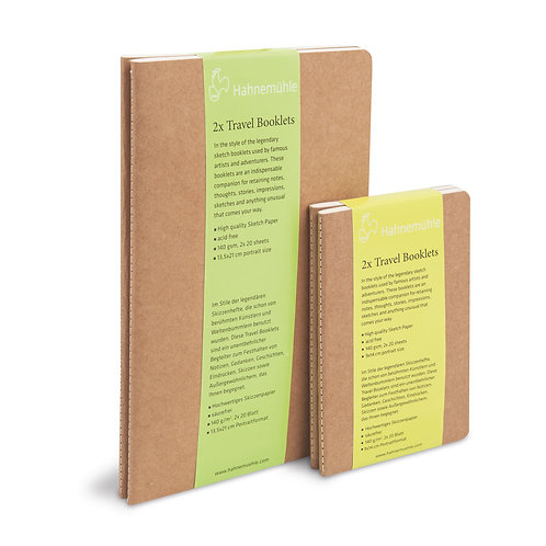 Travel Booklet Portrait (Set of 2): Small