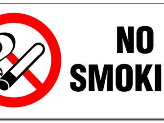 important Notice - No smoking near school grounds