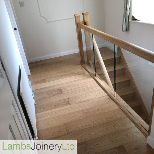 oak and glass staircase