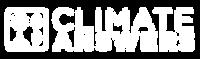 Climate Answers logo white