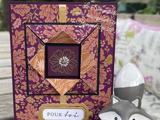 "Live FB du mardi 24 août 2021 - Carte à fenêtre style ""origami"""