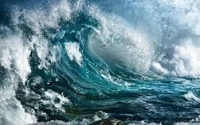 It comes in waves