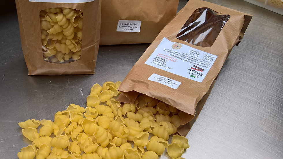 Pâtes Artisanales Coquillettes Natures 1kg