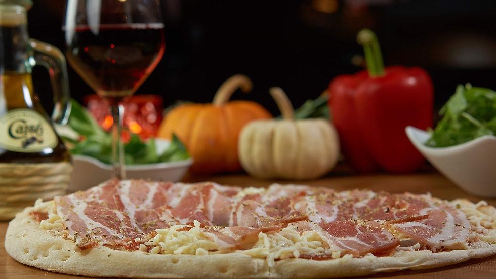 Pizza Tomate Chèvre Lard