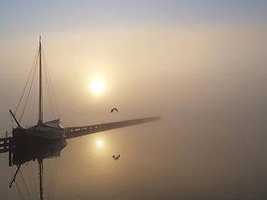 Opkomende zon in de mist - het Zwet - Peter Haitsma