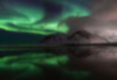Aurora Borealis en haar reflectie - Jos Pannekoek