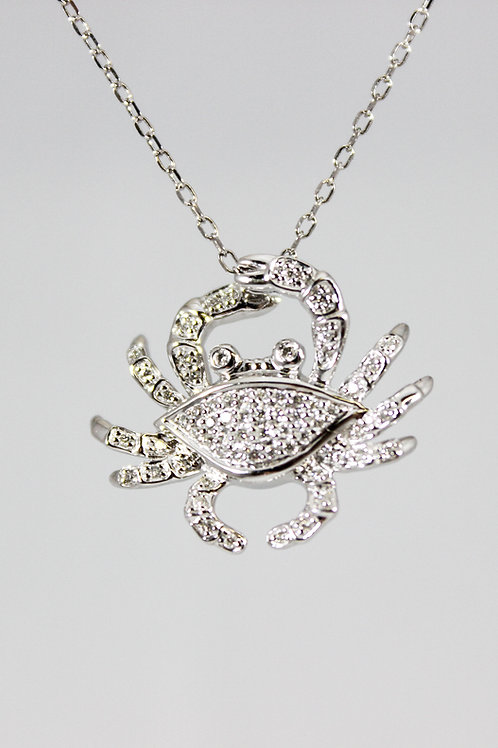 White Gold Diamond Crab