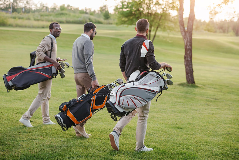 multiethnic-golf-players-with-golf-clubs
