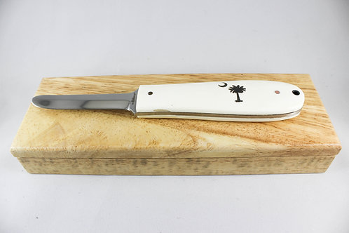 Sarge Oyster Knife with Leather Sheath