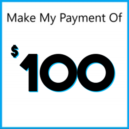 Layaway Payment of $100