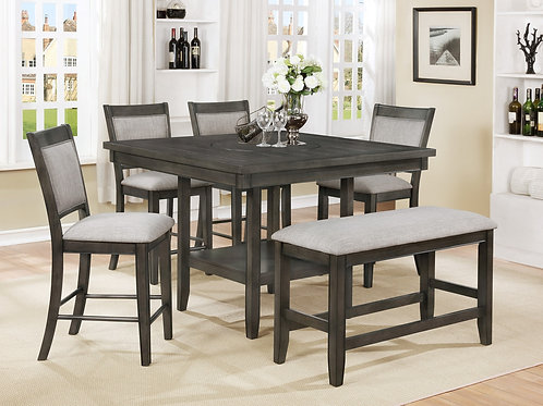 2727 Counter Height Dining Set with Lazy Susanne