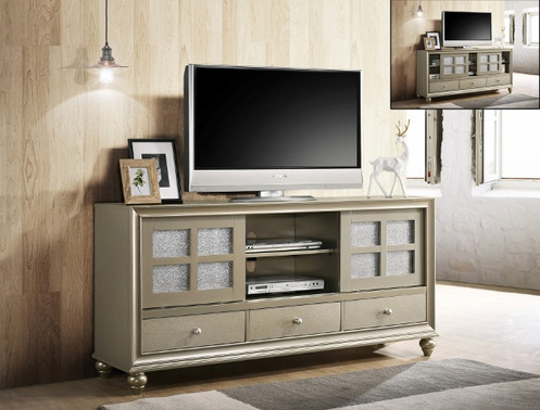 B4390 7 Lila T V Stand By Crown Mark Furniture