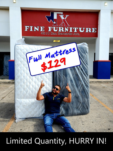 Full Size Mattress Only Starting from $129