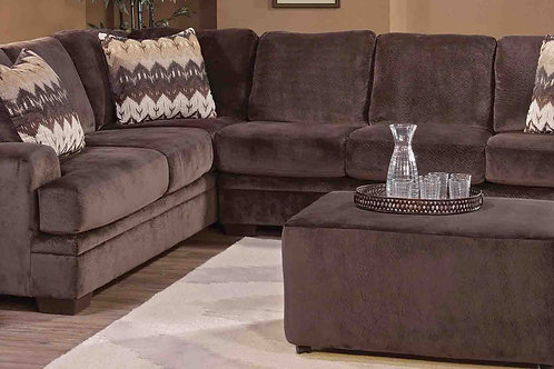 8800 Olympian Chocolate L-Sectional