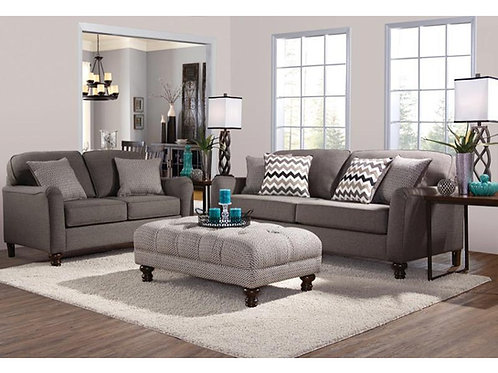 Serta Upholstery 4050 Max Ash Sofa and Loveseat