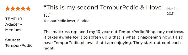 Review of Tempur-pedic Adapt Medium 2