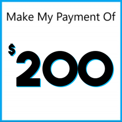 Layaway payment of $200