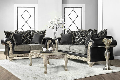 Serta Upholstery 7925 Kais Onyx Sofa and Love seat