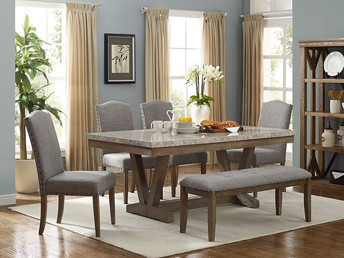 1211 Vespa Mable Table 5pc Dining Set by Crown Mark