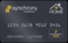 Synchrony Finance Home Credit Card