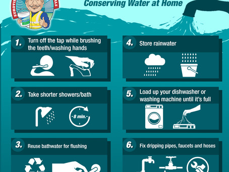 Kuya Ado Tips: Conserving Water at Home
