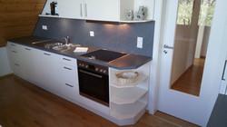 Küche, weiß, schiefer-anthrazit
