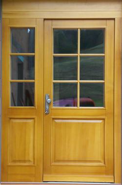 Haustüre mit Seitenteil, Eiche hell