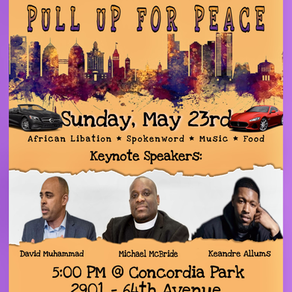 Pull up for Peace (Spoken Word-Music-Food) May 23rd 2pm